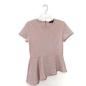 BCBGMaxAzria Pink Harlee Peplum Top Size M